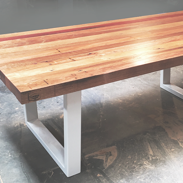 Box Steel Frame Dining Table Timber Trading Co